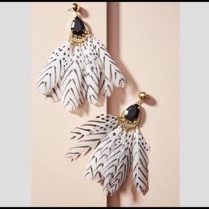 Anthropologie fabulous feather earrings